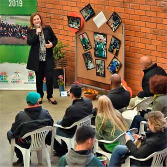 Prefeita Fátima prestigiou o evento de inauguração - Programa Catavida inaugura novo espaço no bairro Industrial