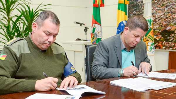 Prefeitura cede prédio do Senai para Batalhão 3 - Prefeitura cede prédio do Senai para Batalhão de Polícia de Choque em Caxias do Sul