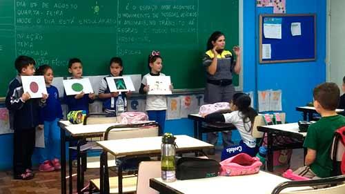atividade escola castelo branco 1 Gabriela Fadanelli - Semana Nacional e Municipal do Trânsito em Caxias do Sul