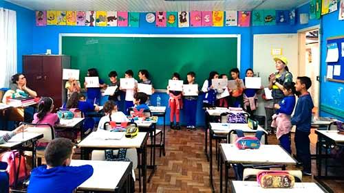 atividade escola castelo branco 2 Gabriela Fadanelli - Semana Nacional e Municipal do Trânsito em Caxias do Sul