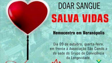 Photo of Hemocentro estará em Veranópolis para doação de sangue