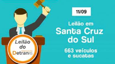 leilaodetran 390x220 - Leilão do Detran oferta 663 veículos em Santa Cruz do Sul