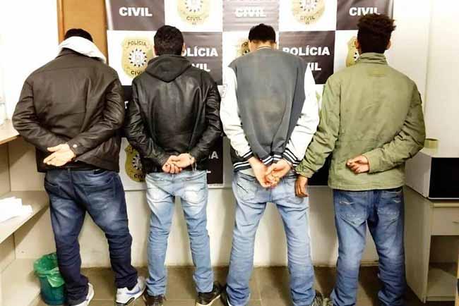 tráfico de drogas em Uruguaiana - Quatro presos por tráfico de drogas em Uruguaiana
