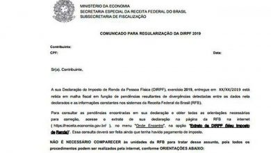 Photo of Receita Federal envia cartas sobre pendências do imposto de renda