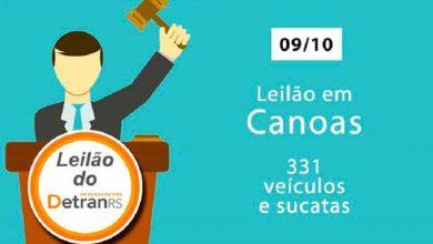 Photo of Quarta-feira tem leilão do DetranRS em Canoas