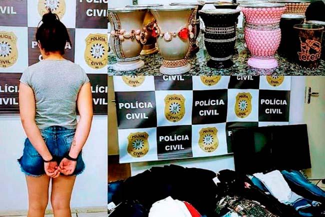 Revista News polsto Mulher é presa em Santo Ângelo com diversos objetos furtados