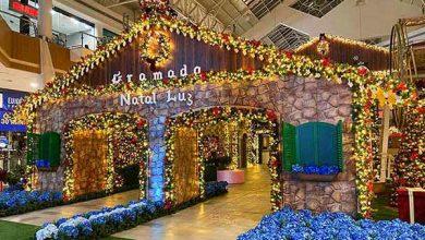 """Photo of Minas Shopping abre decoração com o tema """"Natal Luz de Gramado"""""""