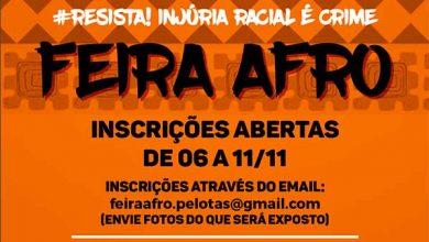 Photo of Inscrições para expor na Feira Afro de Pelotas até dia 11