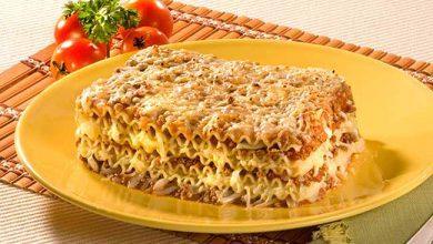Photo of Lasanha de polenta com molho bolonhesa