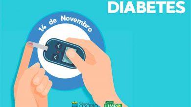 Photo of Osório realiza ações para o Dia Mundial de Combate ao Diabetes