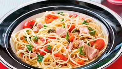 Photo of Espaguete com Tomate Cereja e Atum