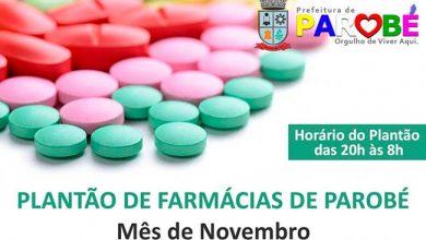 Photo of Confira o plantão das farmácias de Parobé em novembro