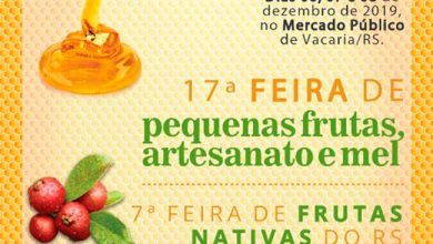 Photo of Feira de Pequenas Frutas, Artesanato e Mel de Vacaria inicia dia 6