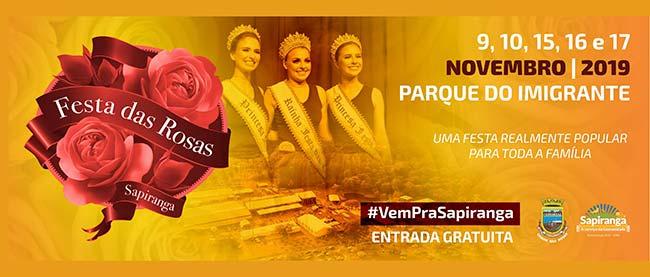 Confira os shows da 36ª Festa das Rosas de Sapiranga - Revista News