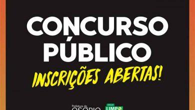 Photo of Osório abre inscrições para concurso público