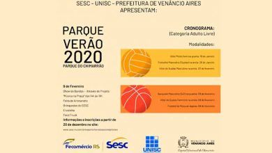 Photo of Iniciam inscrições para o Parque Verão 2020 de Venâncio Aires