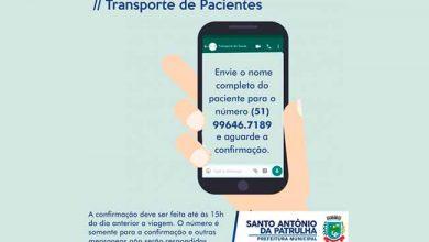 Photo of Santo Antônio da Patrulha confirma transporte de pacientes por WhatsApp