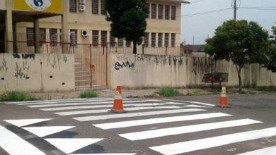 Photo of Santa Maria revitaliza sinalização nas ruas de escolas