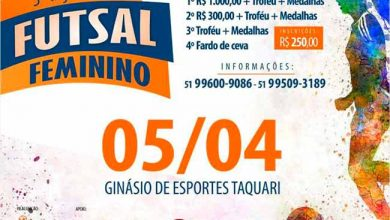Photo of Taça Taquari de Futsal Feminino ocorre em abril