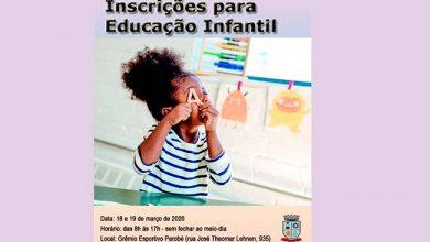 Photo of Parobé abre inscrições para Educação Infantil