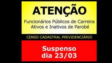 Photo of Parobé suspende senso do funcionalismo municipal