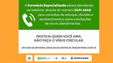 Photo of Farmácia Especializada de São Borja atende por telefone
