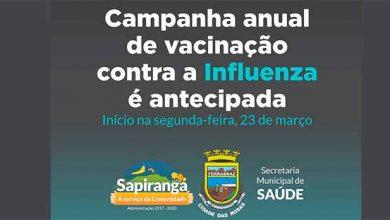 Photo of Saiba quais são os pontos de vacinação contra a gripe em Sapiranga