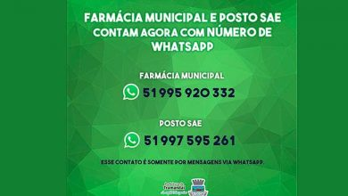 Photo of Farmácia Municipal e SAE de Tramandaí agora com WhatsApp