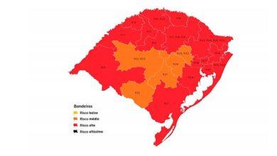 Photo of RS: mapa preliminar da 15ª rodada tem 16 regiões vermelhas