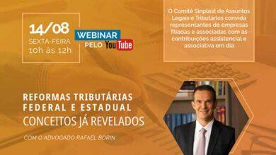 Photo of Sinplast promove debate sobre questões tributárias nesta sexta-feira (14/08)