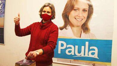 Foto de Paula Mascarenhas é candidata à reeleição pelo PSDB de Pelotas