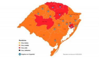 Foto de Confira o mapa definitivo da 19ª rodada do Distanciamento Controlado no RS