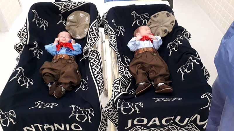 Os gêmeos, Antônio e Joaquim - Fotos: Divulgação